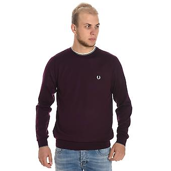 Fred Perry men's FPK2502D93 red wool sweater