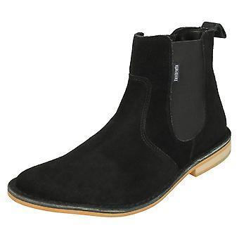 Herre Kenneths ankel støvler Regent - sort ruskind - UK størrelse 6 - EU størrelse 40 - US størrelse 7