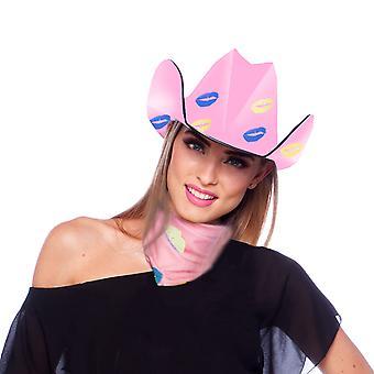 Cowboyhut JGA Kuß Mund
