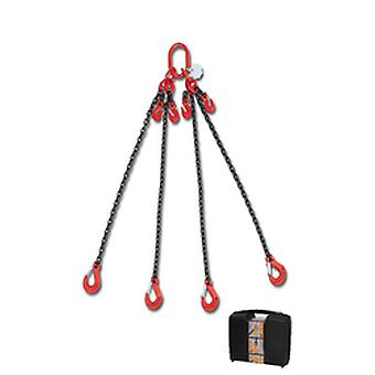 8098/1 C6A Beta Chain Sling 4 Legs And Grab Hook In Plastic Case 6mm 1 Mt