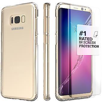 S8 SaharaCase Galaxy Plus caso claro, Kit de protección con ZeroDamage vidrio - cristal templado