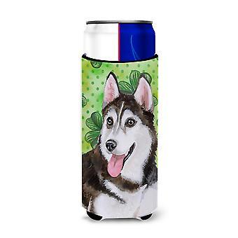 Siberian Husky #2 St Patrick's Michelob Ultra Hugger für schlanke Dosen