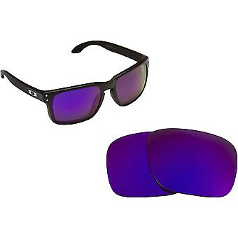 Best SEEK Polarized Replacement Lenses for Oakley HOLBROOK Purple Mirror