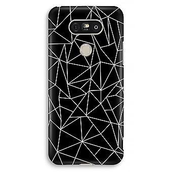 LG G5 Full Print Case - Geometric lines white
