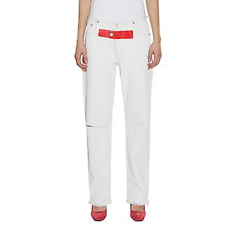 Alyx ladies AAWDN0014007 white cotton of jeans