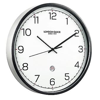 London Clock 1922 42cm Titanium Turbo Brushed Black Wall Clock