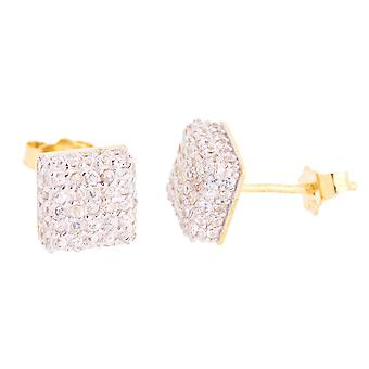 925 Sterling MICRO PAVE Ohrstecker - NYC 8mm gold