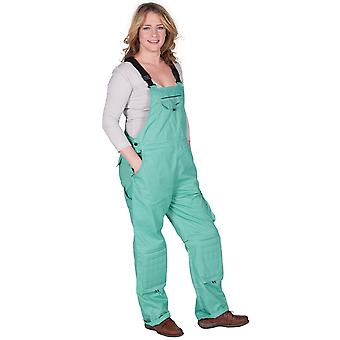 Rosies Womens Dungarees - Green Ladies Work Overalls Sea Green Workwear