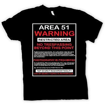 Womens T-shirt-Area 51 Zeichen - UFO - Verschwörung T Shirt