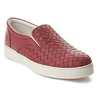 Bottega Veneta kvinders Intrecciato læder Skate Slip-on Sneakers sko Pink