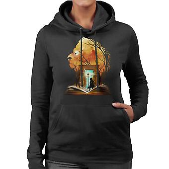 Chronicles Of Narnia Aslan Wardrobe Collage Women's Hooded Sweatshirt