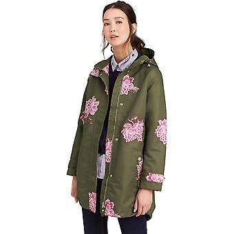 Joules Womens/Ladies Z Raine Printed Mid Length Waterproof Rain Jacket