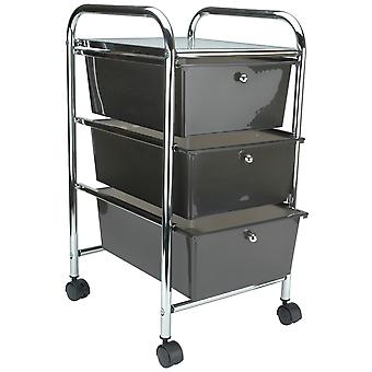Storage Studios Home Center Rolling Cart W/3 Drawers-15.25