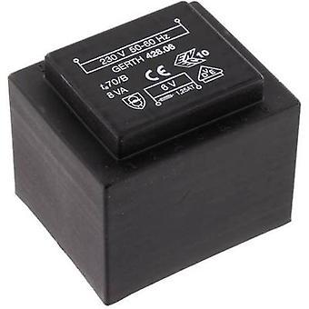 PCB mount transformer 1 x 230 V 1 x 18 V AC 8 VA 444 mA