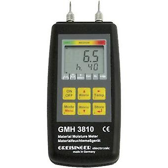 Greisinger GMH 3810 Moisture meter Measuring range building moisture 4 up to 100 vol % Measuring range Wood moisture 4 up to 100 vol % Temperature reading