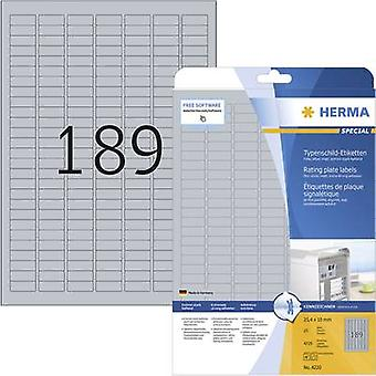 Herma 4220 Labels 25 x 10 mm Polyester film Silver