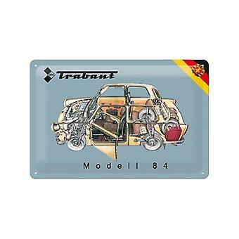 Signo de acero en relieve Trabant modelo 84 (corte)