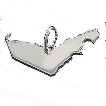 Trailer map UAE Emirates pendant in solid 925 Silver