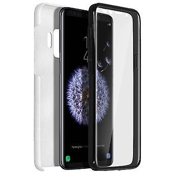 Capa de silicone + capa em policarbonato para Samsung Galaxy S9 - prata