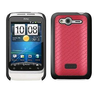 Cas de coque rigide HTC pour HTC Wildfire S - rose