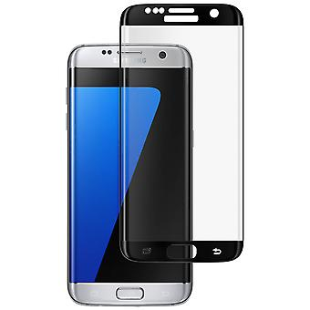 Curved tempered glass screen protector for Samsung Galaxy S7 Edge - Black