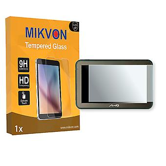 Mio Spirit 7100 LM Screen Protector - Mikvon flexible Tempered Glass 9H (Retail Package with accessories)