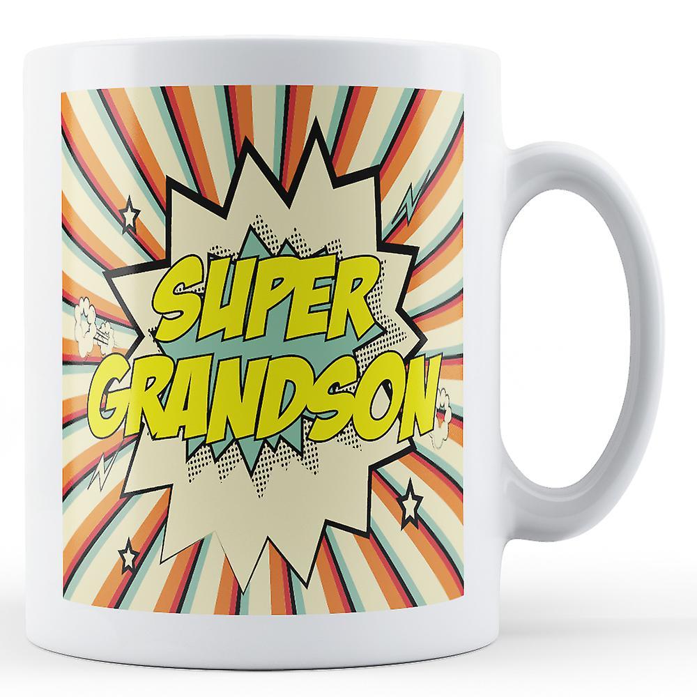 Art Super Pop Grandson Super MugPrinted shCtQrd