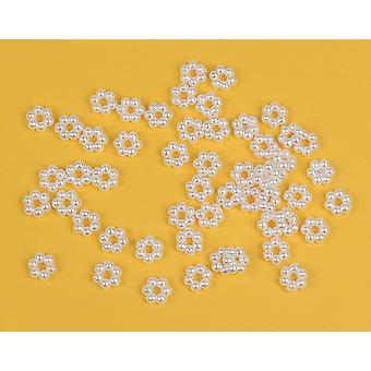 10mm Pearl Bead Flowers for Crafts - 60pk | Childrens Craft Beads