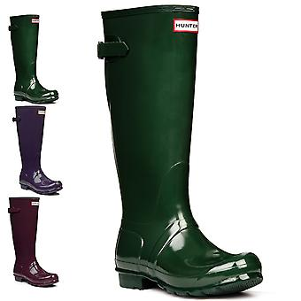 Womens Hunter Original Adjustable Back Gloss Rain Snow Wellington Boots