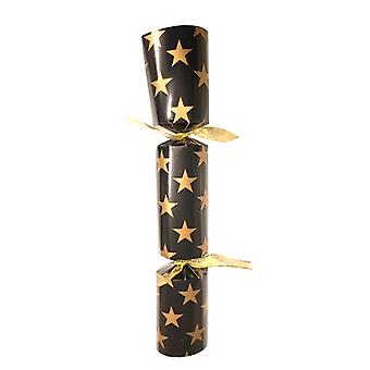 """12"""" Black with Gold Star Cracker - 50"""
