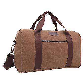 Brown Weekender bag or Holdall of durable fabric