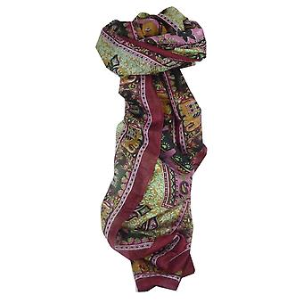 Mulberry Silk Traditional Long Scarf Rei Burgundy by Pashmina & Silk