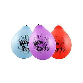 "hen Party 9"" Latex Balloons (10)"