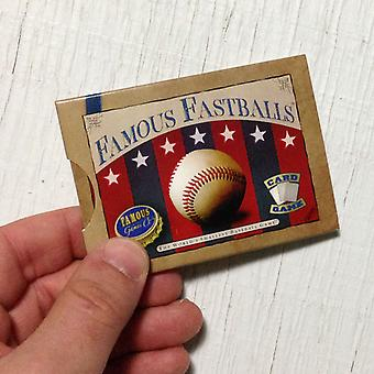 Famous Fastballs baseball card game