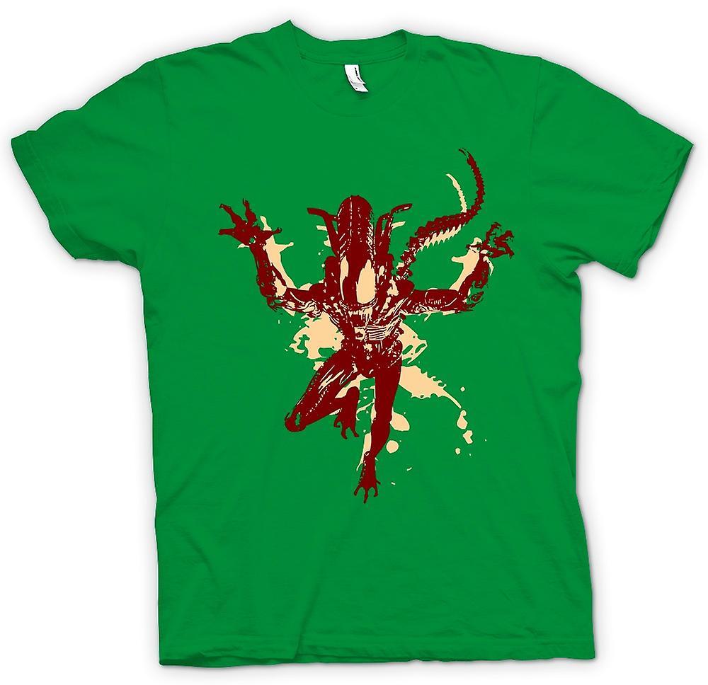 T-shirt van de mens - buitenaardse - popart - Sci Fi - horrorfilm