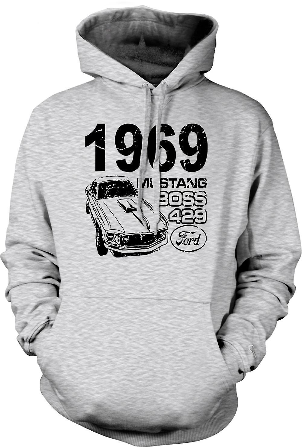 Mens Hoodie - 1969 Mustang Boss 429 - Classic US Car
