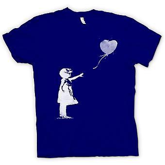Kids T-shirt - Banksy Graffiti Art - Balloon