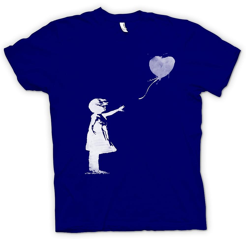 Mens T-shirt - Banksy Graffiti Art - Balloon