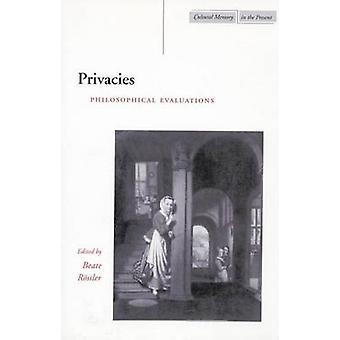 Aislamientos - evaluaciones filosóficas por Beate Rossler - 9780804745642