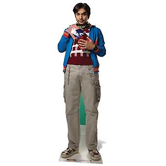 Raj Koothrappali Lifesize cartulina recorte / pie (The Big Bang Theory)