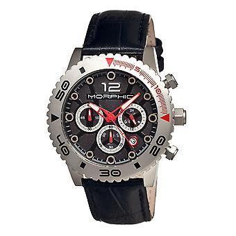 Morphic M33 Series Chronograph Men's Watch w/ Date - Silver/Black