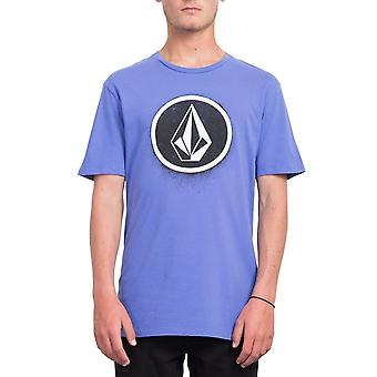 Volcom mannen T-Shirt ~ Spray steen paars