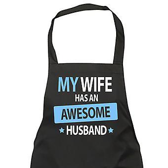 Mi esposa tiene un impresionante marido delantal negro