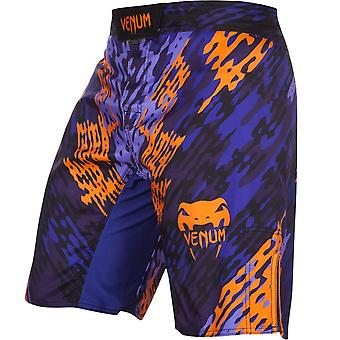 Venum Mens Neo Camo MMA Training Fight Shorts - Blue/Orange/Black