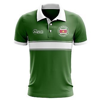 Suriname conceito Stripe Polo camisa (verde)