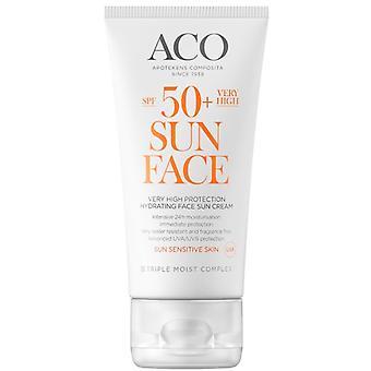 ACO crème solaire visage SPF 50 50ml