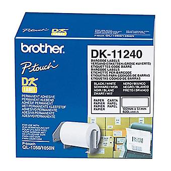 Brother DK11240 White Label 600 Per Roll