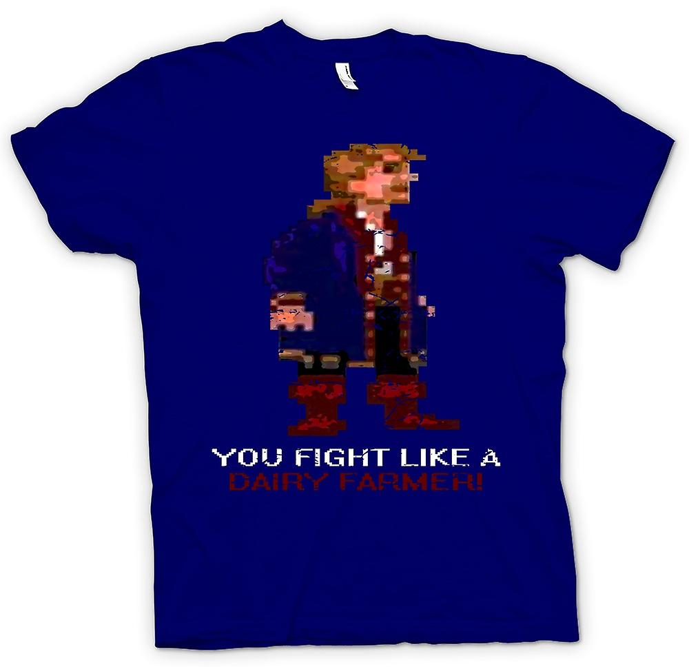 Mens T-shirt - You Fight Like A Dairy Farmer - Monkey Island Inspired