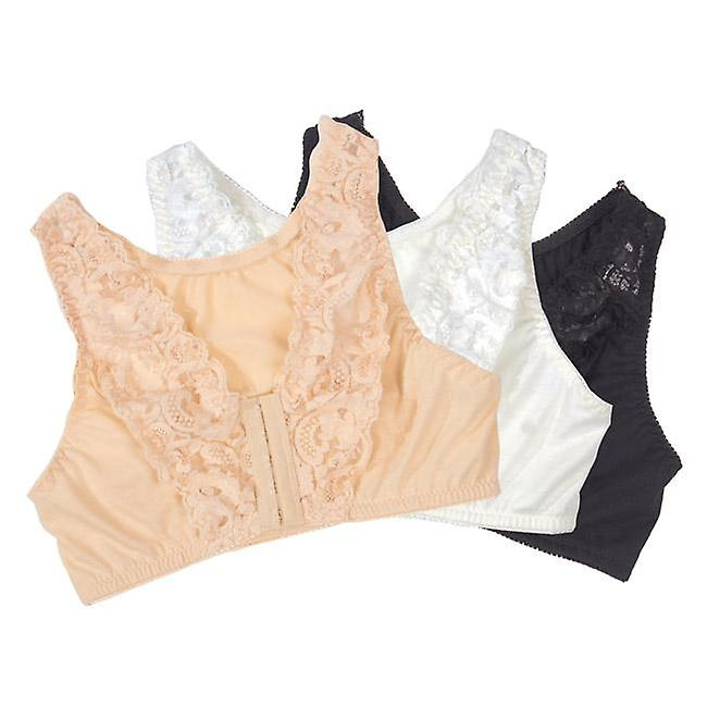 Front-Fastening Lace Bra (Set of 3)