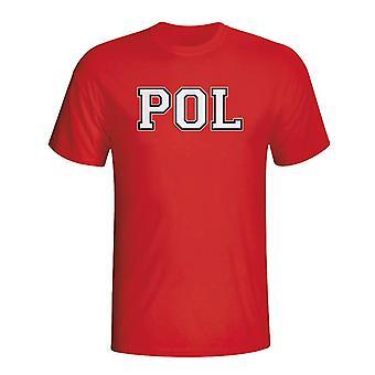Polónia país ISO T-shirt (vermelho)-Kids
